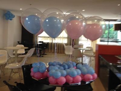 Decoração de balões cha de bebe