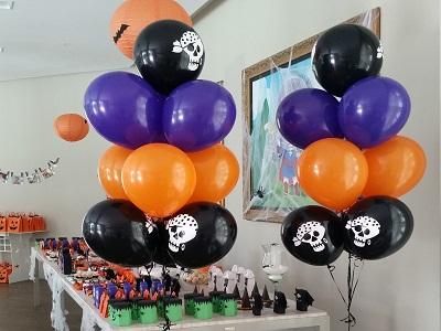 Decoração de balões cha de halloween