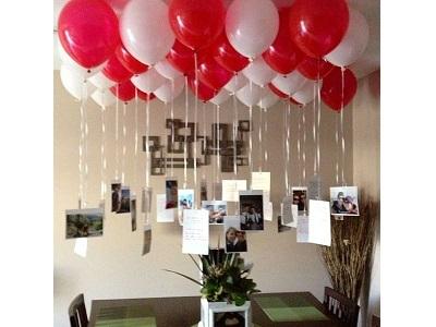 diados namorados surpresa balões com gas helio