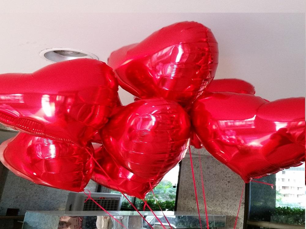 balão de coração para casamento